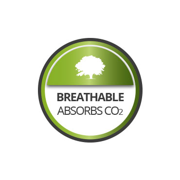 Breathable. Absorbs CO2